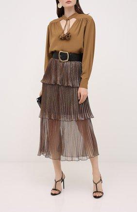 Женская юбка-миди SELF-PORTRAIT бронзового цвета, арт. PF20-138 | Фото 2