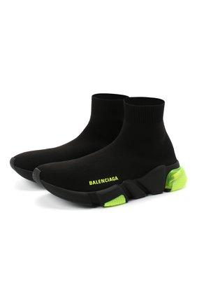 Женские текстильные кроссовки speed BALENCIAGA черного цвета, арт. 607543/W05GJ | Фото 1