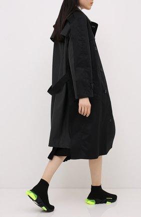 Женские текстильные кроссовки speed BALENCIAGA черного цвета, арт. 607543/W05GJ | Фото 2
