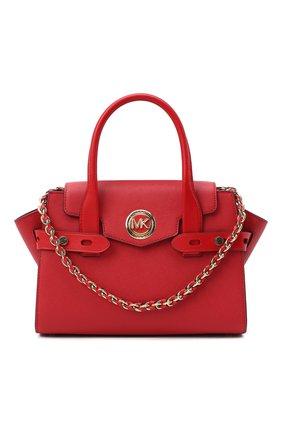 Женская сумка carmen small MICHAEL MICHAEL KORS красного цвета, арт. 30S0GNMS1L | Фото 1