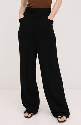 Женские брюки из вискозы и шерсти RICK OWENS черного цвета, арт. RP20F2311/WE | Фото 3