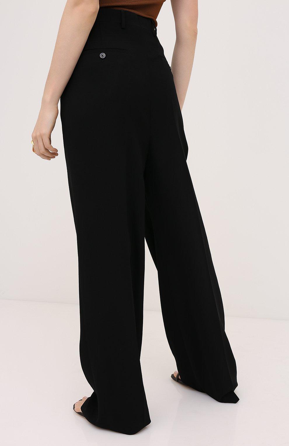 Женские брюки из вискозы и шерсти RICK OWENS черного цвета, арт. RP20F2311/WE | Фото 4