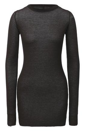 Женская пуловер из вискозы и шелка RICK OWENS серого цвета, арт. RP20F2202/RC   Фото 1
