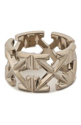 Женское кольцо OFF-WHITE серебряного цвета, арт. 0W0C007S20MET0017200 | Фото 1