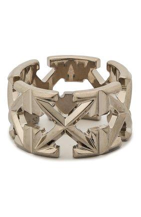 Женское кольцо OFF-WHITE серебряного цвета, арт. 0W0C007S20MET0017200 | Фото 2