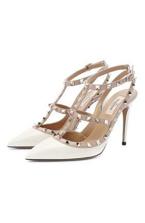 Женская кожаные туфли valentino garavani rockstud VALENTINO белого цвета, арт. UW2S0393/VNW | Фото 1