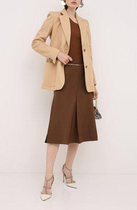 Женская кожаные туфли valentino garavani rockstud VALENTINO белого цвета, арт. UW2S0393/VNW | Фото 2