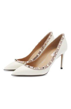 Женская кожаные туфли valentino garavani rockstud VALENTINO белого цвета, арт. UW2S0A04/V0D | Фото 1