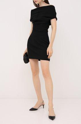 Женские кожаные туфли rockstud VALENTINO черного цвета, арт. UW2S0H14/V0D | Фото 2