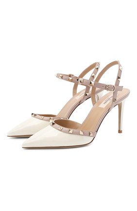 Женская лаковые туфли valentino garavani rockstud VALENTINO белого цвета, арт. UW2S0S98/VNW | Фото 1