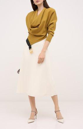 Женская лаковые туфли valentino garavani rockstud VALENTINO белого цвета, арт. UW2S0S98/VNW | Фото 2
