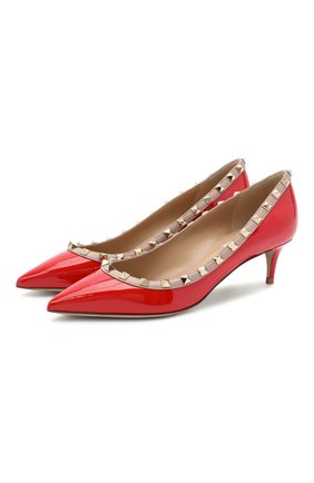 Женская кожаные туфли valentino garavani rockstud VALENTINO красного цвета, арт. UW2S0V22/VNW | Фото 1