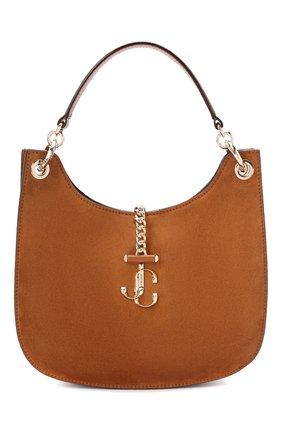 Женская замшевая сумка varenne JIMMY CHOO коричневого цвета, арт. VARENNE H0B0/M/UUS | Фото 1