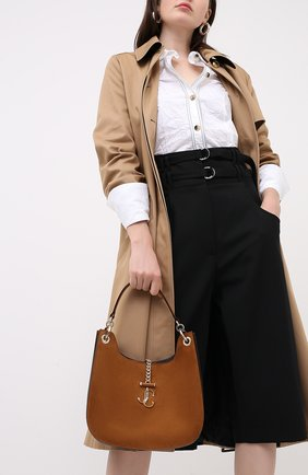 Женская замшевая сумка varenne JIMMY CHOO коричневого цвета, арт. VARENNE H0B0/M/UUS | Фото 2