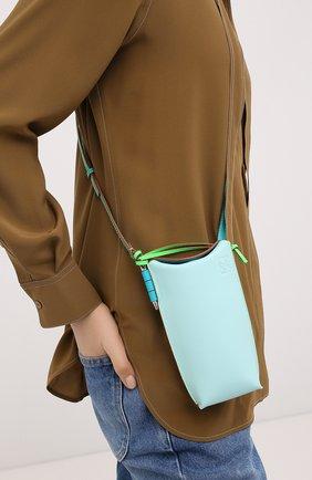Женская сумка gate pocket loewe x paula's ibiza LOEWE голубого цвета, арт. C650Z42X20   Фото 2