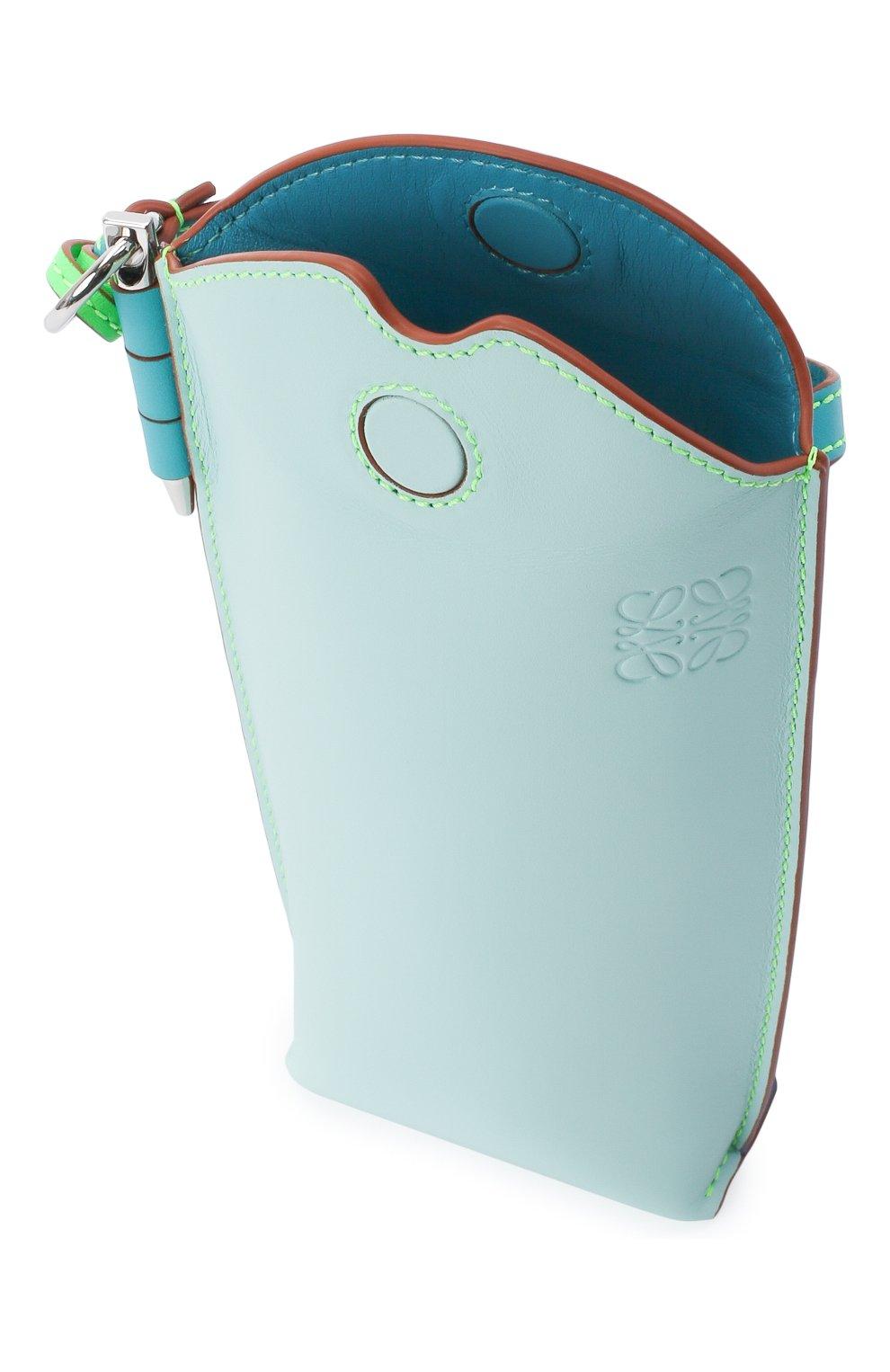 Женская сумка gate pocket loewe x paula's ibiza LOEWE голубого цвета, арт. C650Z42X20 | Фото 4