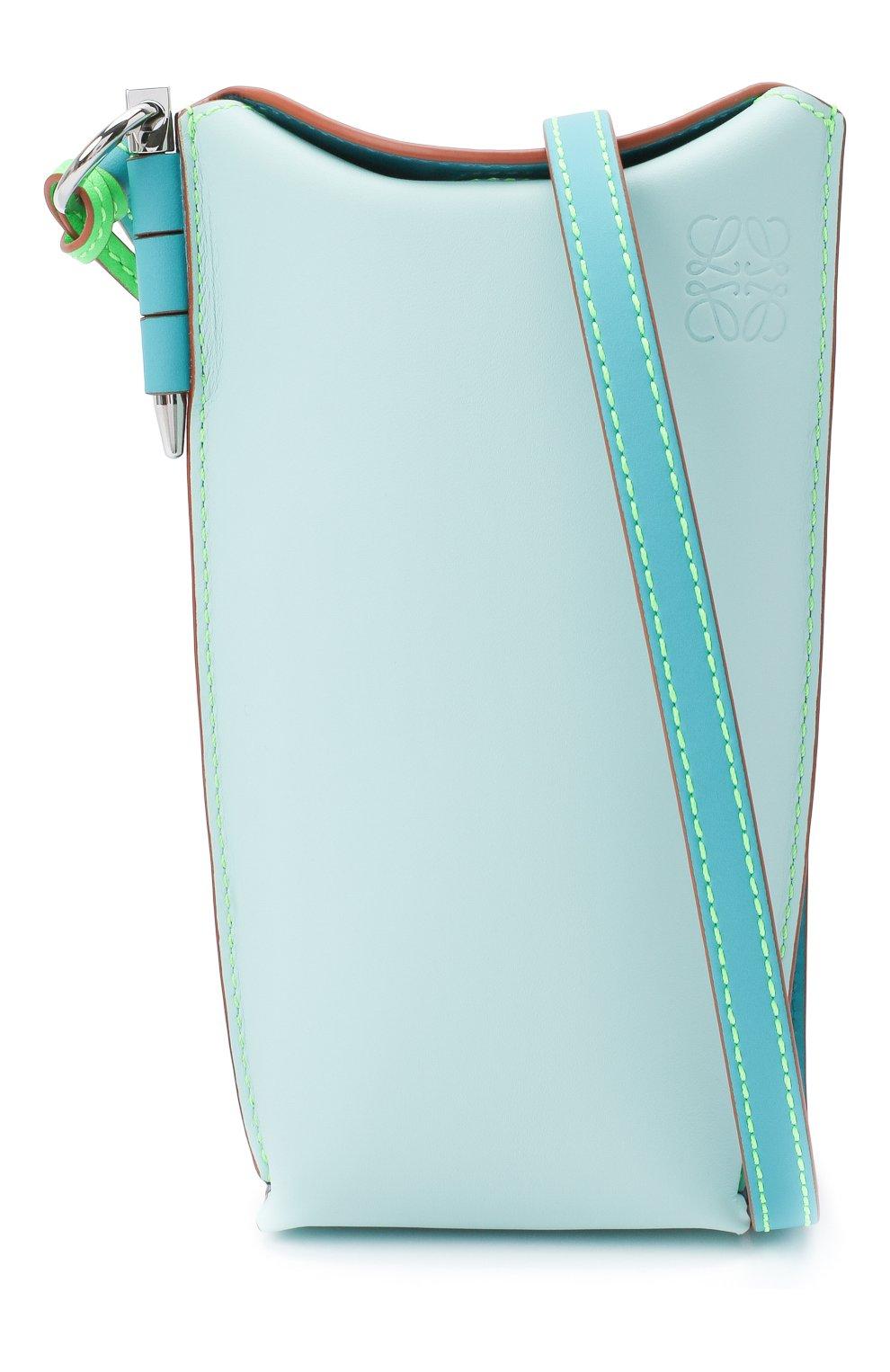 Женская сумка gate pocket loewe x paula's ibiza LOEWE голубого цвета, арт. C650Z42X20 | Фото 6