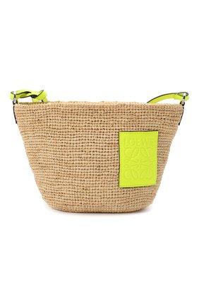 Женская сумка pochette loewe x paula's ibiza LOEWE желтого цвета, арт. A689W10X03   Фото 1