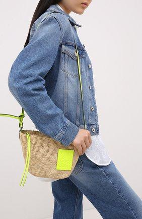 Женская сумка pochette loewe x paula's ibiza LOEWE желтого цвета, арт. A689W10X03   Фото 2