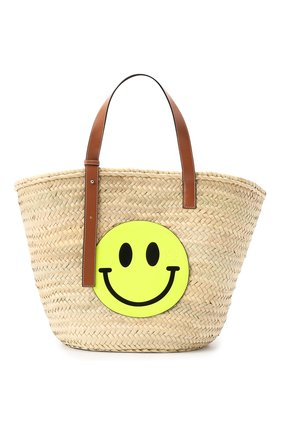 Женская сумка basket loewe x paula's ibiza LOEWE желтого цвета, арт. A223S81X01 | Фото 1