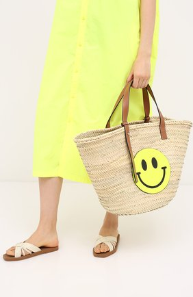 Женская сумка basket loewe x paula's ibiza LOEWE желтого цвета, арт. A223S81X01 | Фото 2