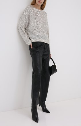 Женский пуловер IN THE MOOD FOR LOVE серебряного цвета, арт. ALEXANDRA T0P | Фото 2