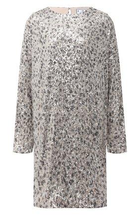 Женское платье с пайетками IN THE MOOD FOR LOVE серебряного цвета, арт. ALEXANDRA LE0PARD DRESS | Фото 1