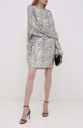 Женское платье с пайетками IN THE MOOD FOR LOVE серебряного цвета, арт. ALEXANDRA LE0PARD DRESS | Фото 2