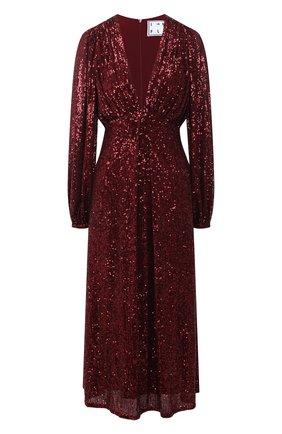 Женское платье с пайетками IN THE MOOD FOR LOVE бордового цвета, арт. IRINA DRESS | Фото 1
