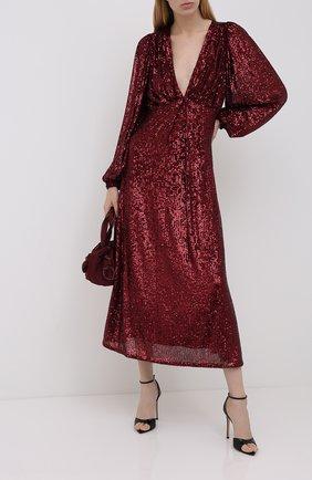Женское платье с пайетками IN THE MOOD FOR LOVE бордового цвета, арт. IRINA DRESS | Фото 2