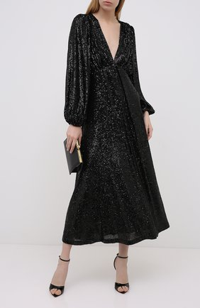 Женское платье с пайетками IN THE MOOD FOR LOVE черного цвета, арт. IRINA DRESS | Фото 2