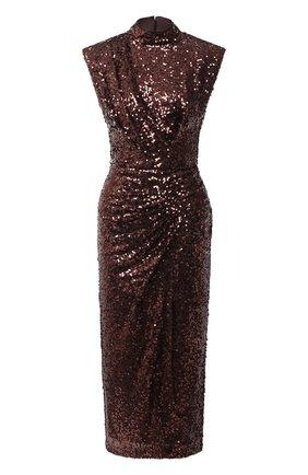 Женское платье с пайетками IN THE MOOD FOR LOVE коричневого цвета, арт. RHEA DRESS | Фото 1