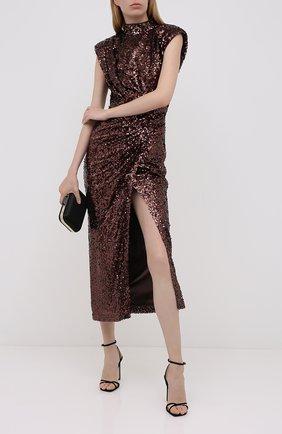 Женское платье с пайетками IN THE MOOD FOR LOVE коричневого цвета, арт. RHEA DRESS | Фото 2