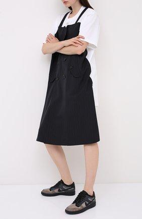Женские текстильные кеды comme des garcons x nike COMME DES GARCONS черного цвета, арт. GE-K102-001 | Фото 2