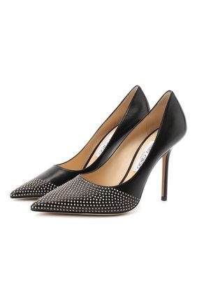 Женская кожаные туфли love 100 JIMMY CHOO черного цвета, арт. L0VE 100/XNS | Фото 1