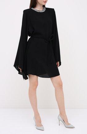 Женская текстильные туфли godiva SERGIO ROSSI серебряного цвета, арт. A43843-MTEL26 | Фото 2