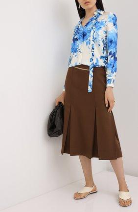 Женская шелковая блузка VALENTINO голубого цвета, арт. UB3AB18S5LV   Фото 2