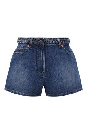 Женские джинсовые шорты VALENTINO голубого цвета, арт. UB3DD10H5D7 | Фото 1