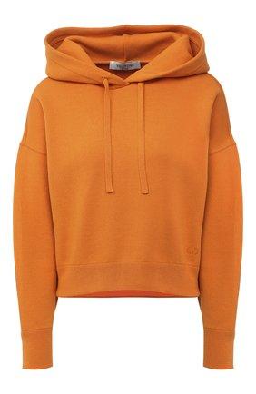 Женская худи VALENTINO оранжевого цвета, арт. UB3KC15N5ML   Фото 1
