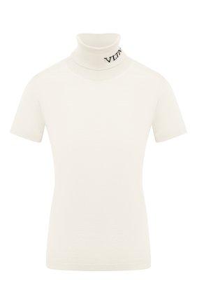 Женская шерстяной пуловер VALENTINO белого цвета, арт. UB3KC16F5NU   Фото 1
