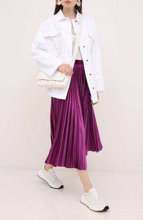 Женская юбка-миди VALENTINO фуксия цвета, арт. UB3MD01W5MD | Фото 2