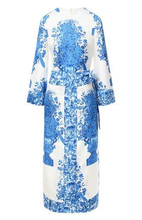 Женское шелковое платье VALENTINO голубого цвета, арт. UB3VAT505LL | Фото 1