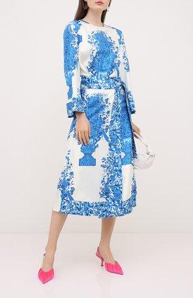 Женское шелковое платье VALENTINO голубого цвета, арт. UB3VAT505LL | Фото 2