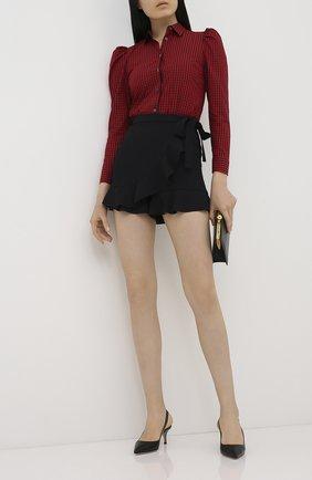 Женская хлопковая рубашка REDVALENTINO красного цвета, арт. UR3ABD90/55Y | Фото 2