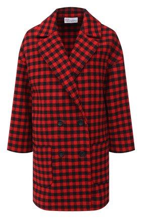 Женское шерстяное пальто REDVALENTINO красного цвета, арт. UR3CA155/55U | Фото 1