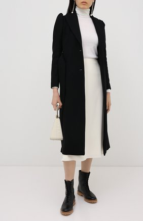 Женское шерстяное пальто REDVALENTINO черного цвета, арт. UR3CAC10/560 | Фото 2
