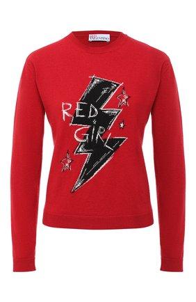 Женская пуловер из шерсти и вискозы REDVALENTINO красного цвета, арт. UR3KC01L/58F | Фото 1