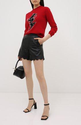 Женская пуловер из шерсти и вискозы REDVALENTINO красного цвета, арт. UR3KC01L/58F | Фото 2