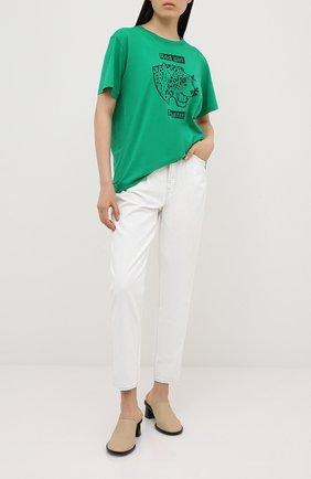 Женская хлопковая футболка REDVALENTINO зеленого цвета, арт. UR3MG07I/5A2 | Фото 2
