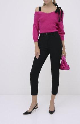 Женские брюки из вискозы REDVALENTINO черного цвета, арт. UR3RBC65/WBP | Фото 2